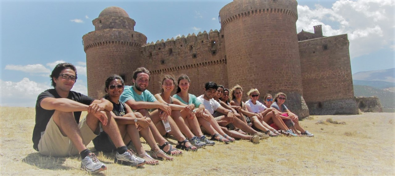 LBAT students at a castle in Spain.